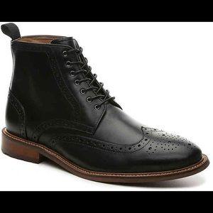 Aston Grey Men's Size Erane Broque Oxford Ankle